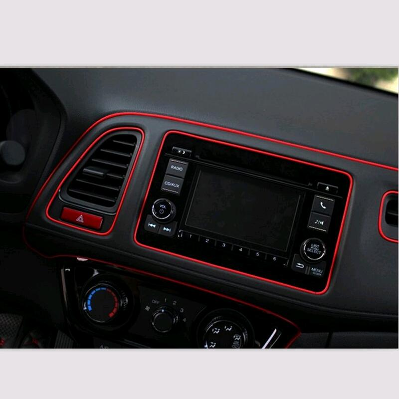 car styling interior decorative sticker insert type air outlet dashboard decoration strip. Black Bedroom Furniture Sets. Home Design Ideas