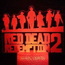 Game Red Dead Redemption 2 Nightlight Gift Home Decoration Accessories Dutch Van Der Linde Led Night Light Lamp Bedroom Decor