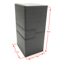 Extra Large Deck Case for Trading cards, Board Game Card Case Card Box/Cards Container: Black Color