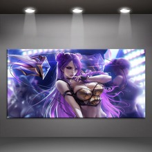 Kda Kaisa Sexy League of Legends Painting On Canvas Print Type And The Wall Decor Artwork 1 Panel Style Game Large Poster