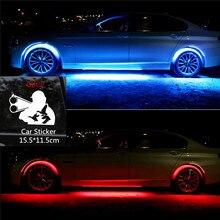 4×8 Colori Luminoso Auto HA CONDOTTO LA Striscia Al Neon LED Inferiore Auto Luci Sottoscocca Underglow di Musica Audio Attivo Sistema di Neon kit Per Auto luce