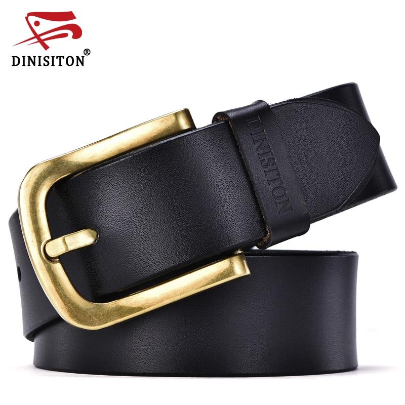 8d41cb3b985e DINISITON mode nouveau mâle ceinture pour hommes haute qualité vache véritable  ceintures en cuir 2017 vente chaude bracelet ceinture homme or boucle ...