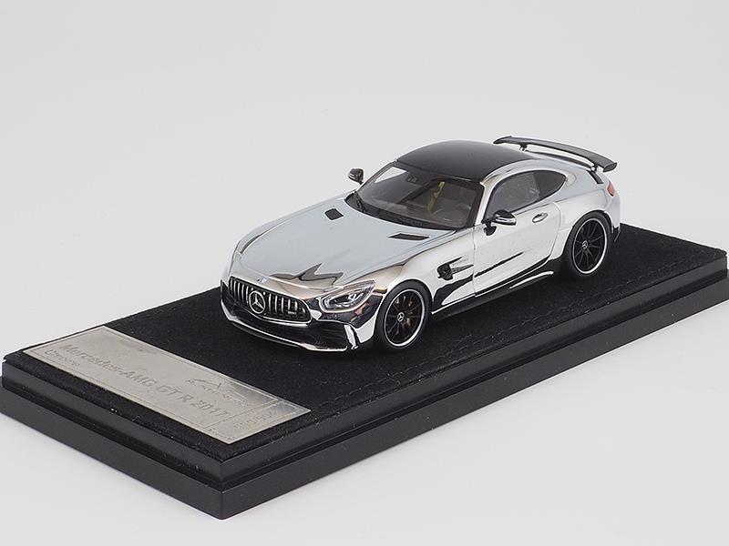 Diecast Car Model Almost Real AMG GT R GTR 2017 1 43 Glossy Chrome SMALL GIFT