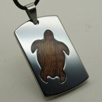 Men Women Jewelry Yellow Long Life Tortoise Wood Inlayed Heavy 41g Hi Tech Scratch Proof Tungsten