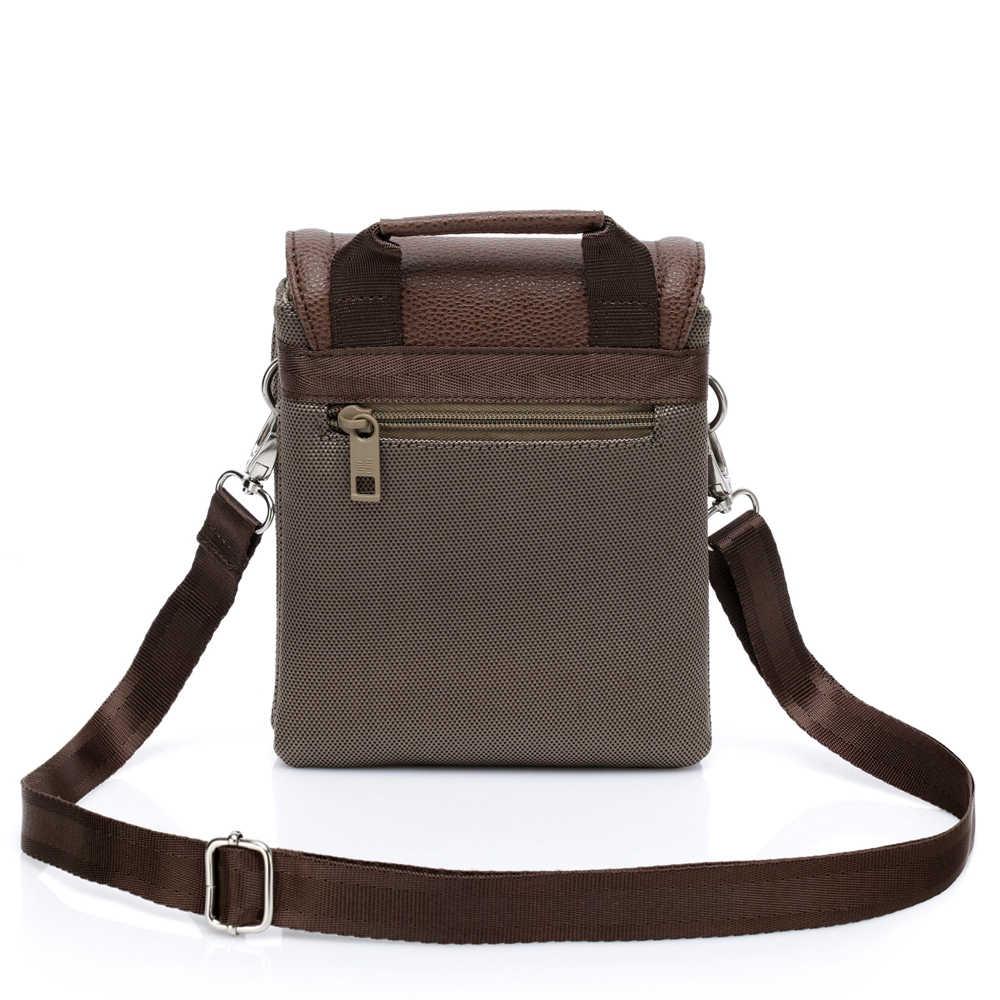 YESO бренд Водонепроницаемый нейлона и из искусственной кожи Винтаж Для мужчин и Для женщин сумки через плечо сумки из натуральной кожи через плечо сумки для Ipad Mini