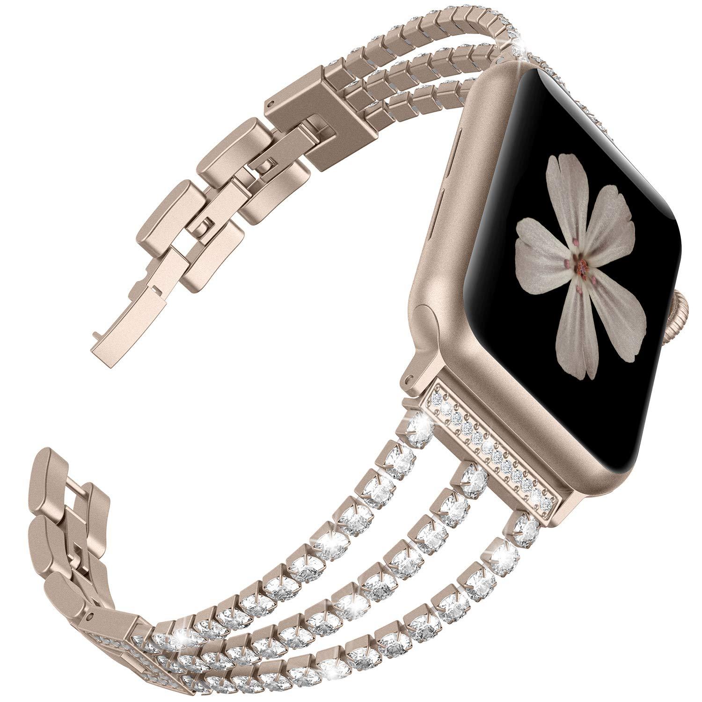 Новый женский браслет jansin для часов apple watch 38 мм 42