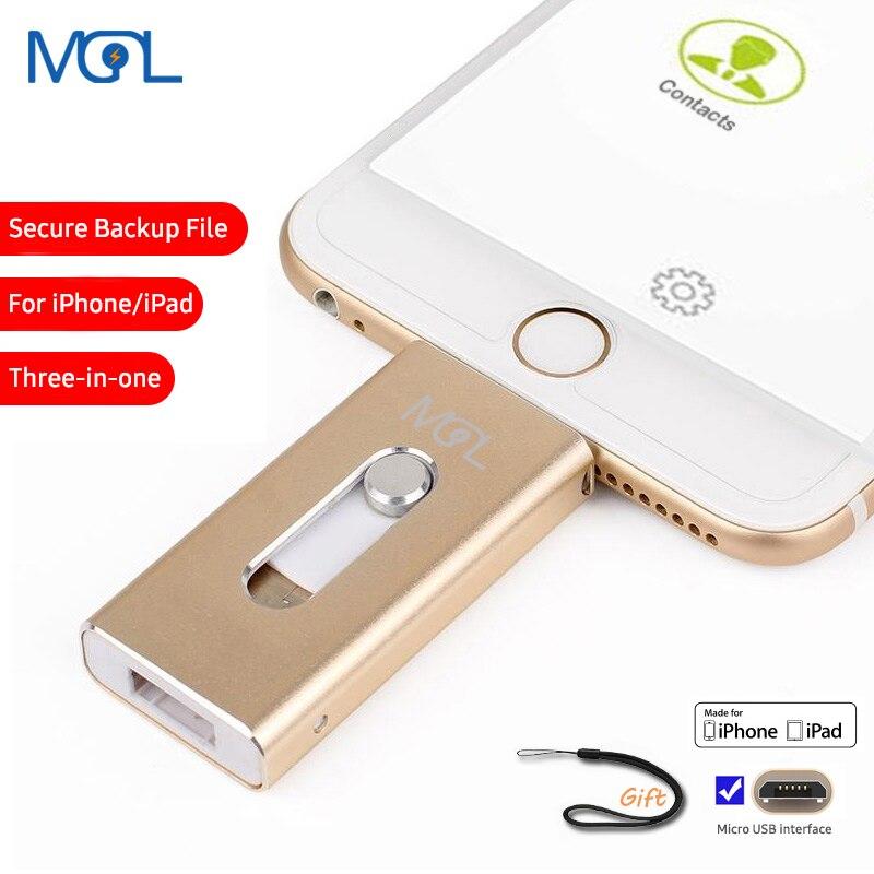 OTG Usb Flash Drive 8GB 16GB 32GB 64GB 128GB Pen drive storage memory stick For iphone 8 7 Plus 6 6s Plus 5S ipad Pendrive
