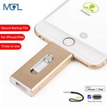 OTG Usb флэш-накопитель 8 ГБ 16 ГБ 32 ГБ 64 Гб 128 ГБ Флешка для хранения memory stick для iphone 8 7 Plus 6 6s Plus 5s Ipad, флеш-накопитель