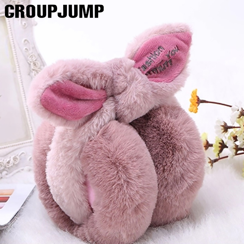 Fashion Rabbit Fur Winter Earmuffs For