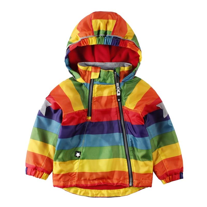 add22240e975 LittleSpring Boys Girls Bomber Jackets Children Colorful Waterproof ...
