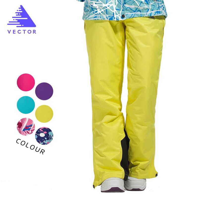 VECTOR femmes Ski pantalon imperméable neige pantalon plein air Sports d'hiver chaud Snowboard pantalon femme hiver Ski pantalon HXF70016 - 3