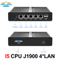 Partaker Mini PC Mini Server Pfsense OS J1900 Quad Core 4 LAN 1080P 12V Mini Desktop Computer Router Server