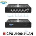 Partaker Mini PC Mini Server Pfsense OS J1900 Quad Core 4 LAN 1080P 12V Mini Desktop Computer Router Server