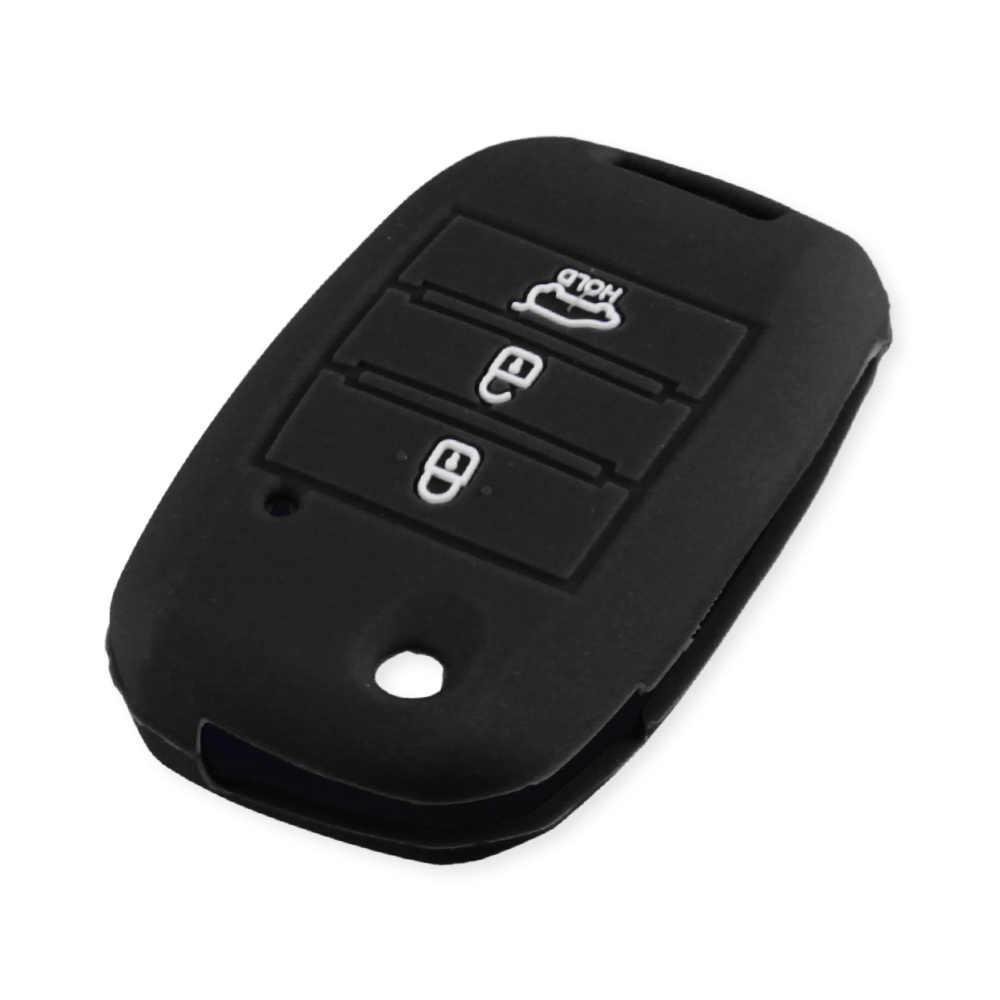 KEYYOU-housse de clé pliante en Silicone pour voiture, Protection de clé télécommande, pour KIA Sid, Rio Soul, Sportage Ceed, Sorento, Cerato K2 K3 K4 K5