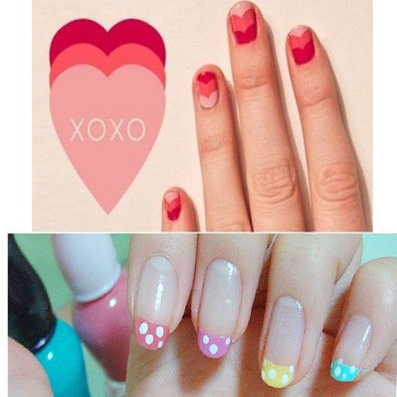 Hot Fashion French Manicure Sticker Nail Art Tips For DIY Flexible Use Fingers Toes Nails Water Decals Beauty In Stickers From