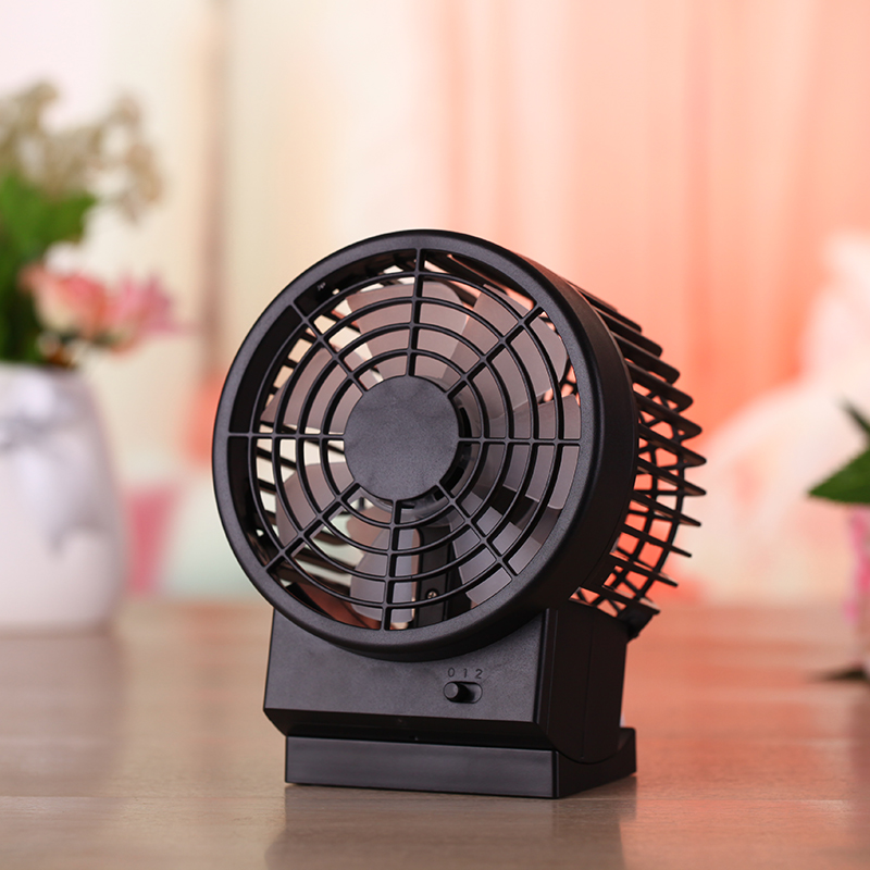 Ultra Quiet Summer Portable Mini Usb Fan Office Desk Leque Air Conditioner Double Blades Second Gear Sd Fans In From Home Liances On