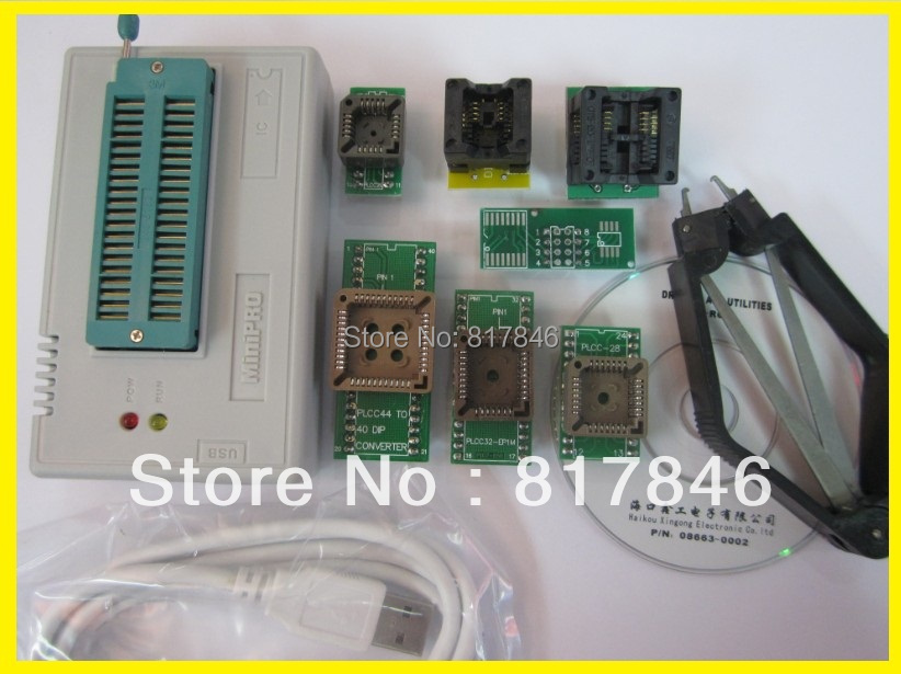 Free Shipping NEW V6.6 IC Clip+Updated TL866CS Willem High Speed USB BIOS EEPROM PIC Universal Programmer+8 IC adapter Sockets free shipping new vspeed vs4000 high performance usb universal programmer support 40 pins 15000 ic for eeprom flash mcu pld