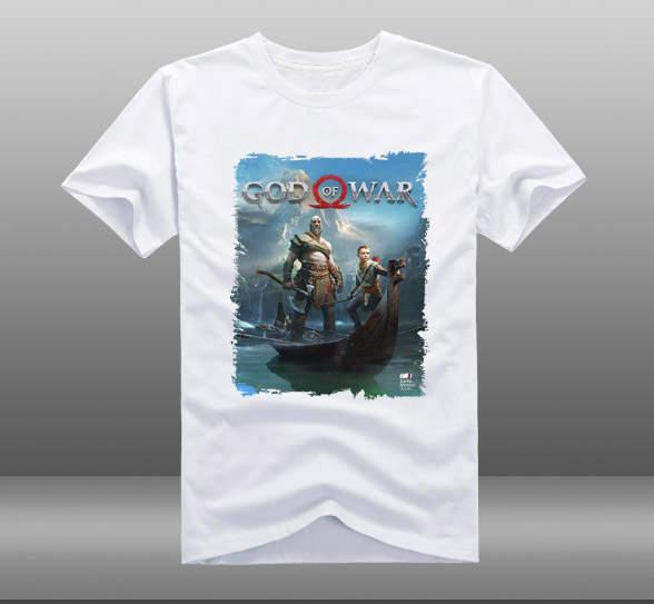 12b97bcb6a8 Online Shop 2018 Game God of War 4 Poster T-shirts Kratos Atreus Mens  Casual Short Sleeve Cotton O-Neck Printing Pattern Tops Tee Shirts