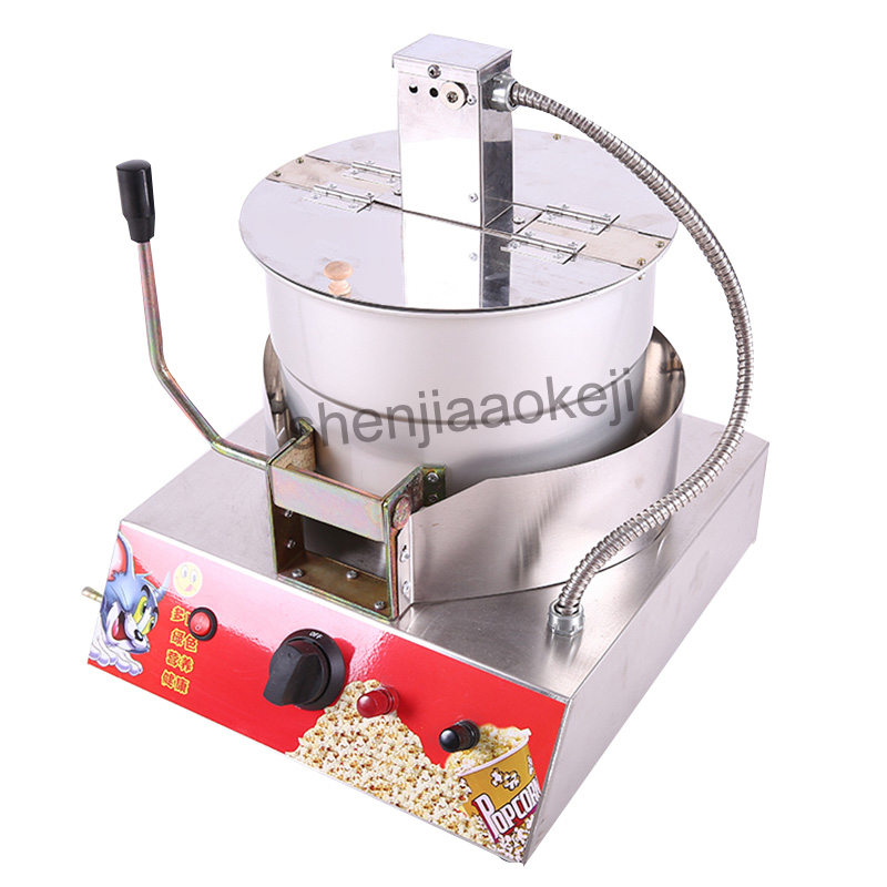 Popcorn Machine Single Pot Liquefied Gas electric popcorn machine Stainless Steel commercial popcorn machine 1pc New 10oz stainless steel 110v 220v electric commercial popcorn machine with temperature control