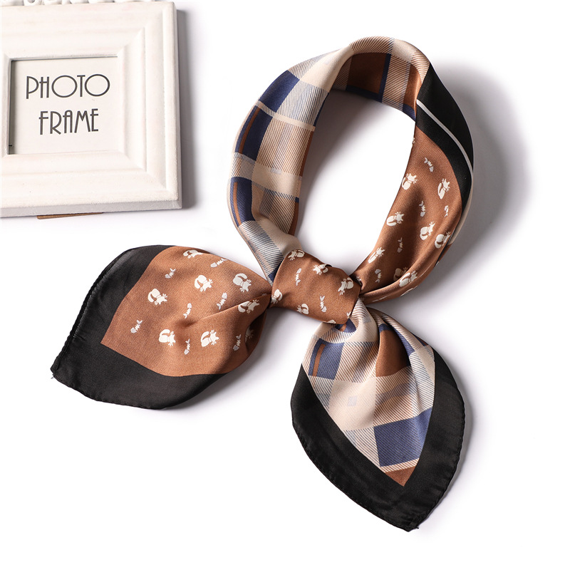 2019 designer brand women silk scarf square lady shawls small size scarves neck office scarfs bandana foulard in Women 39 s Scarves from Apparel Accessories