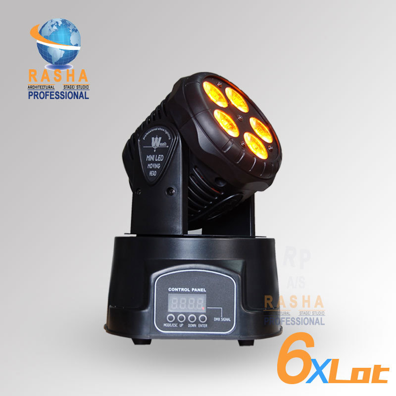 6X LOT Factory Price For 5*15W RGBAW MINI LED Moving Head Wash Light,Wash Light LED Moving Head For Event,Disco Party