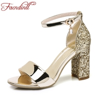 FACNDINLL Gladiator Women Sandals Shoes New Sexy Gold Silver High Heels Peep Toe Shoes Woman Dress