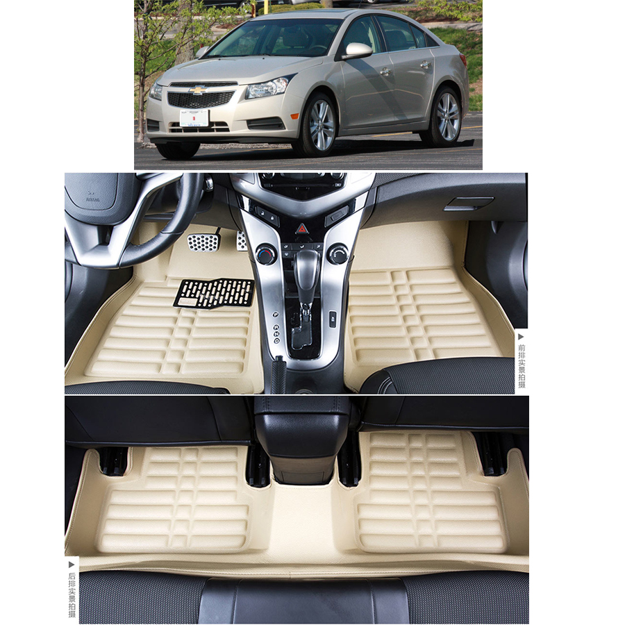 free shipping waterproof fiber leather car floor mat carpet rug for chevrolet cruze Daewoo Lacetti Premiere J300 2008-2015 high quality car central station mat sticker for chevrolet cruze black 1pcs free shipping kl12329