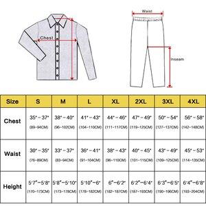 Image 2 - Мужской Шелковый Атласный пижамный комплект, пижамный комплект PJS Пижама, комплект для отдыха США, M,L,XL,2XL,3XLL,4XL Plus полосатый