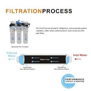 """Image 3 - 2 """"OD x 10"""" Inline kokosowego węgla granulowanego węgla aktywowanego część zamienna filtra wody filtr do System odwróconej osmozy, lodówka, kostkarka do lodu 2 paczka"""