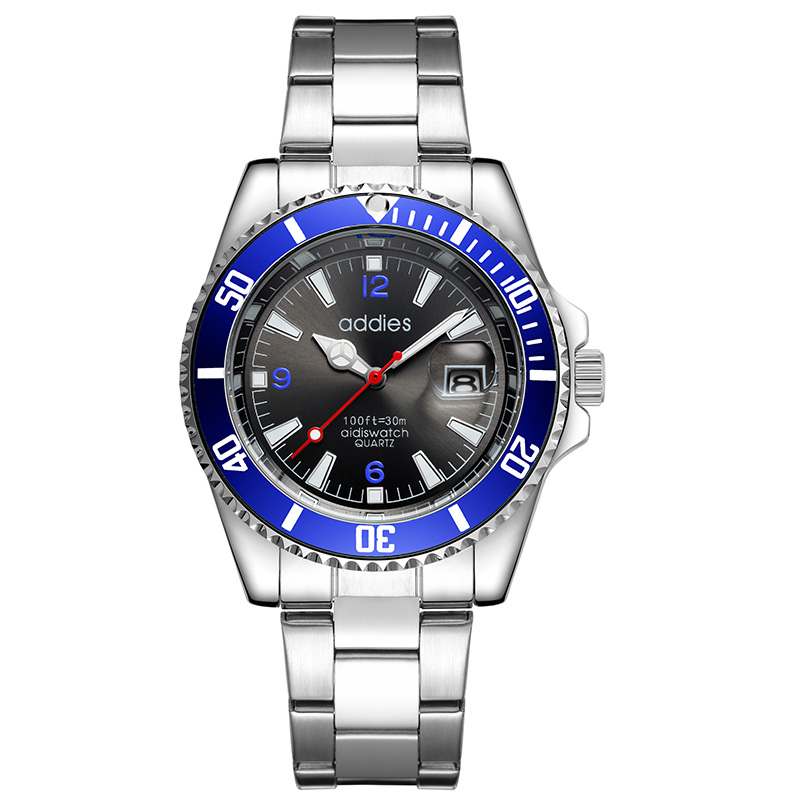 Addies fashion mens business luxury brand wristwatch 2019 import quartz movement casual men watch alloy stainless steel belt in Quartz Watches from Watches