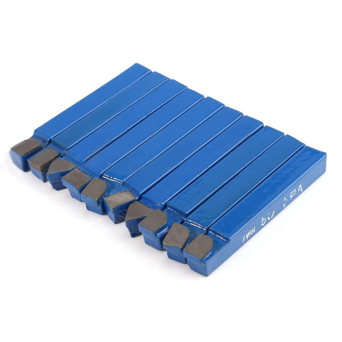 10 stücke Blau Hartmetall Drehwerkzeug Bit 1/4