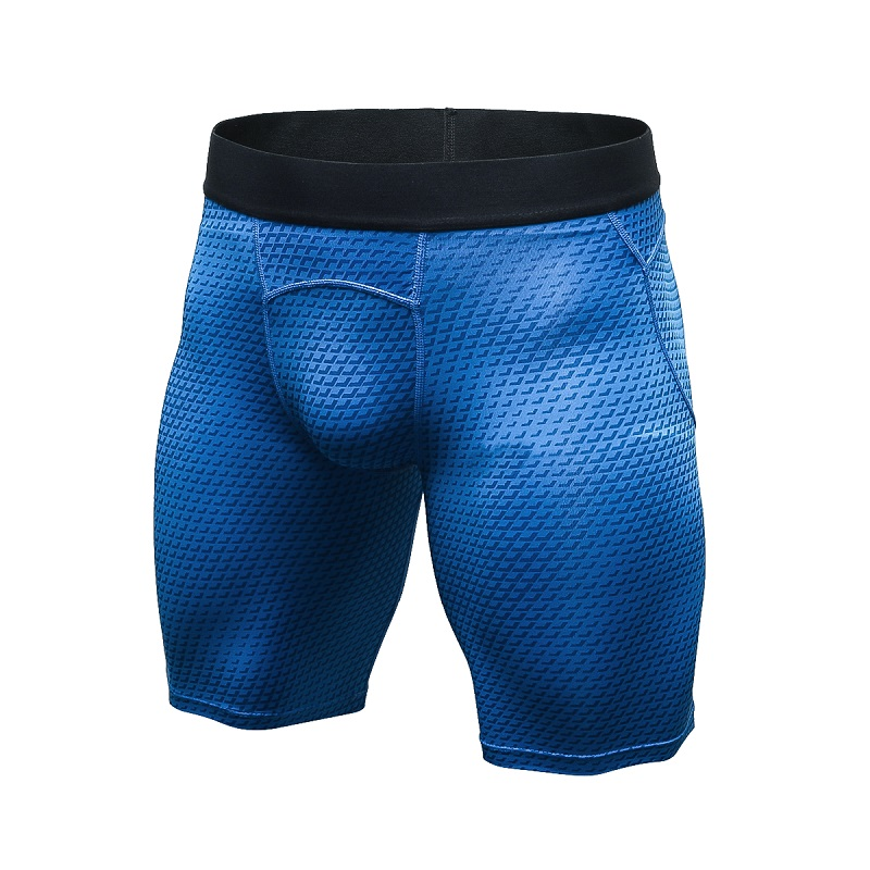 New Arrival Mens PRO Running 3D Printing Shorts Tight Quickly Dry Short Pants Fitness Trainning Trousers Breathable Soccer Pant