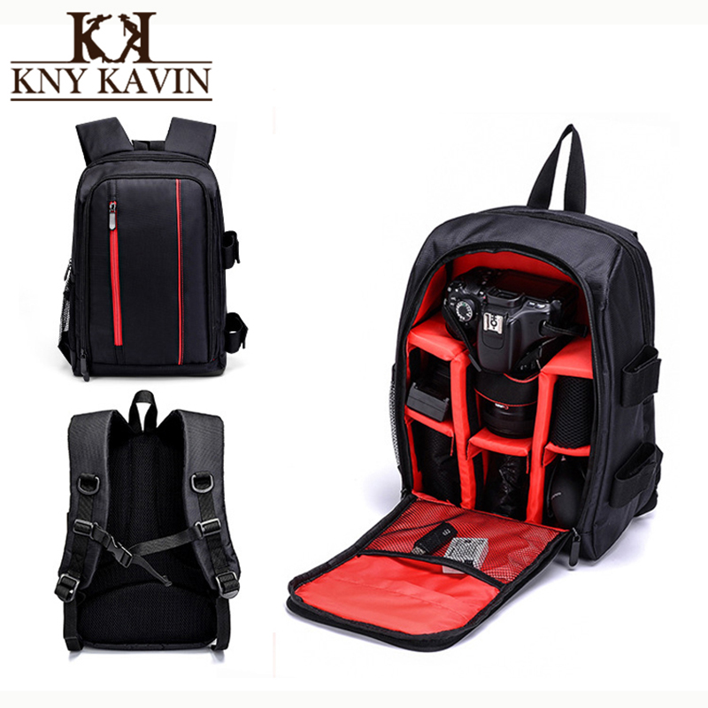 KNY KAVIN Waterproof DSLR Backpack Camera Video Bag Laptop Photography Bag for Nikon Canon Sony DSLR Camera Lens Accessories new large capacity waterproof photography camera video bag dslr camera backpack camera photo bag for nikon canon slr camera lens