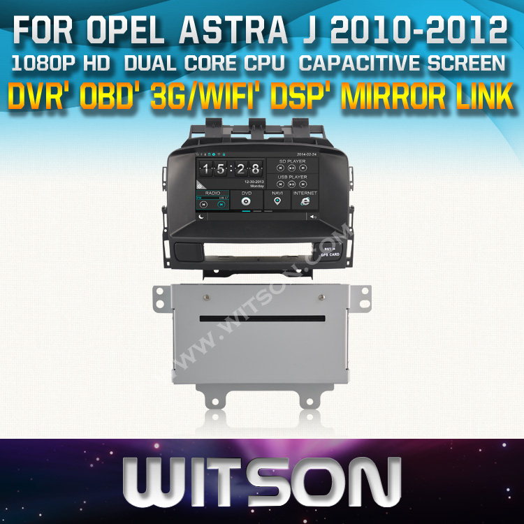 WITSON factory price!! car dvd for OPEL ASTRA J 2010-2012 navigation GPS stereo AUTO RADIO+Mirror Link function+TPMS+DVR+3G WIFI