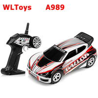 WLtoys A989 2WD 1:24 Waterproof Electric RC Car Stunt Vehicle Model for Kids Children RTR Assorted Color