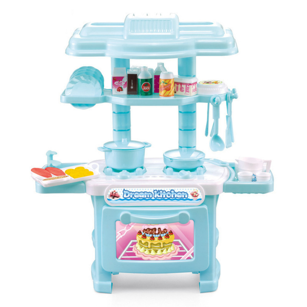 Simulation Children\'s Play Kitchen Toy Cooking Playset DIY Toy For ...