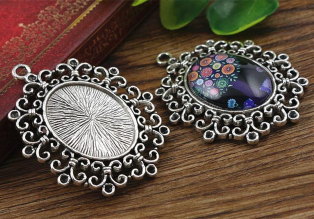 2pcs 18x25mm Inner Size Antique Silver Cameo Cabochon Base Setting Charms Pendant necklace findings (C1-38) 3pcs 18x25mm inner size antique silver brooch pin classic style cameo cabochon base setting c2 30
