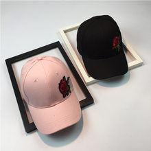2018 New Plaster Rose Embroidery Baseball Cap Women Snapback Hat Adjustable  Men Fashion Dad Hats Wholesale 6a456db47bb9