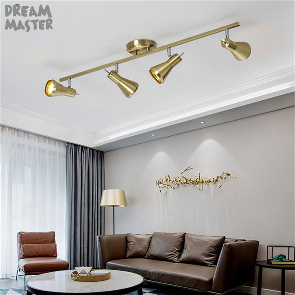 US $29.99 |Ceiling Spotlights,Track Lighting Kit, Kitchen Light  Fixture,Ceiling Wall Track Light Picture Light white bronze led candle  lamp-in ...