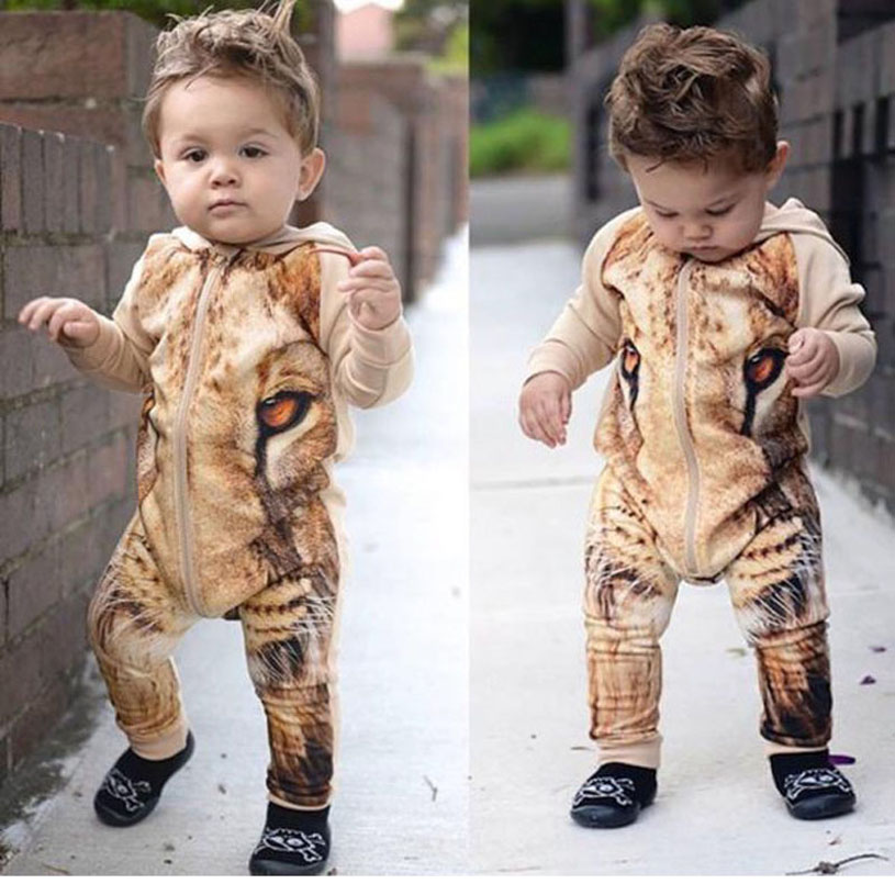 New Born Baby Clothes Cartoon Ropa De Recien Nacido Animal Rompers Baby Cute Tiger Costume Fashion