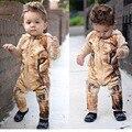 Recém-nascido bebê dos desenhos animados Ropa De Recien Nacido animais macacão De bebê bonito tigre traje roupas De bebê recém-nascido