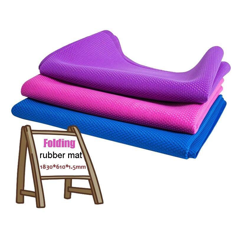 Tapis d'exercice de Yoga écologique de 1.5mm tapis de situp de voyage en caoutchouc ultra-mince pliable perdre du poids tapis de Yoga Pilates