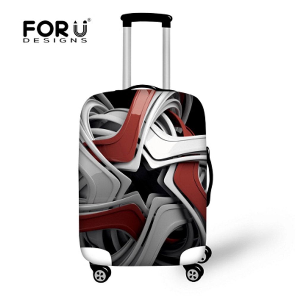 Jenama 3D Portable Travel Travel Elastic Cover Stretch Protect Cover Cloth Apply to 18-30 Inch Case Waterproof Luggage Covers