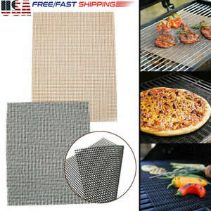 US Grill Mat BBQ Grill Mesh Mat Non-Stick Teflon Cooking Sheet Liner Fish Meshes