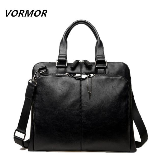 Vormor marca hombres bolsa casual maletín de los hombres crossbody bolsos de hombro portátil bolsa de mensajero de los hombres de cuero de los hombres bolsas de viaje 2017