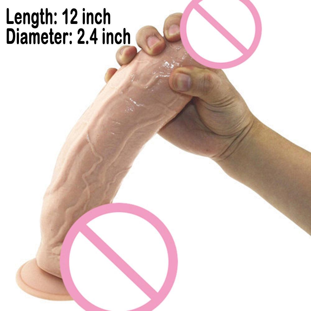 Hot Sale Super Thick Huge Dildo 12 inch Extreme Big Realistic Sturdy Suction Cup Penis Dick Dong for Women Sex Dildos Toys