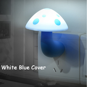 Image 3 - Mini Mushroom Baby Night light Automatic Sensor Light Control Lamp EU US Plug Child Kids Baby Room Led Lamp