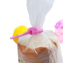 Пищевой силиконовый мешок стяжки, кабель управление, застежка-молния твист, Универсальный многофункциональный зажим для сумки, хлеб галстук, экономия еды