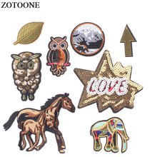 ZOTOONE Letter Sequins Iron on Patches Badges for Clothes Embroidered Suits of Coat Jacket Trousers T-shirt Pants Badge Apparel(China)