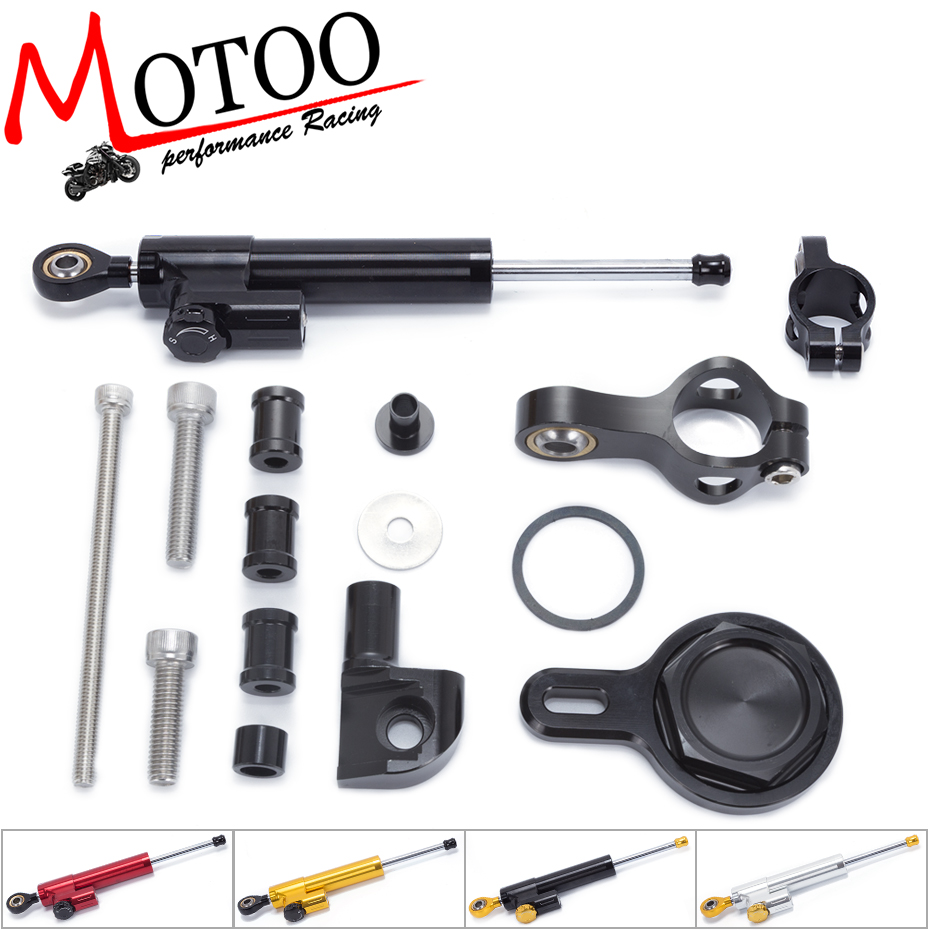Motoo -FREE SHIPPING For YAMAHA R1 1998-2005 Motorcycle Aluminium Steering Stabilizer Damper Mounting Bracket Kit fxcnc aluminum motorcycle steering stabilizer damper mounting bracket support kit for yamaha fz1 fazer 2006 2015 2007 2008 09